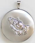 C1105 Praying Hands Locket