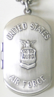 C1204 Air Force Military Dog Tag Locket