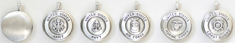 22mm  Round Military Lockets