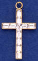 C425 Channel cross with stones