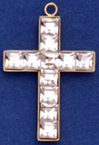 C428 channel cross with stones