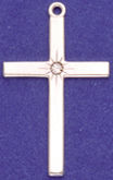 sterling silver cross with stone