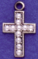 ZC85 small cross with pearls