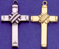 C257 gold hollow cross pendants