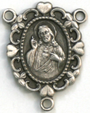 C473 Sacred Heart Rosary Center Locket
