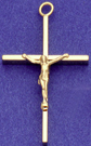 C201 gold wire form crucifix