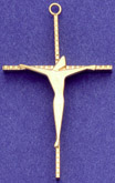 C218 sterling wire form crucifix